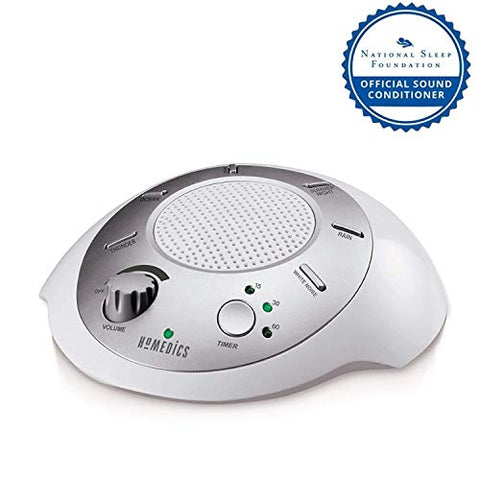 White Noise Sound Machine | Portable Sleep Therapy for Home , Office , Baby & Travel | 6 Relaxing & Soothing Nature Sounds , Battery or Adapter Charging Options , Auto-Off Timer | HoMedics So