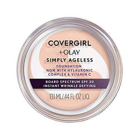 Covergirl & Olay Simply Ageless Instant Wrinkle-Defying Foundation, Creamy Natural, , Beauty, COVERGIRL, Foundation - ThingsBuy