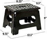 Folding Step Stool - The Lightweight Step Stool is Sturdy Enough to Support Adults and Safe Enough for Kids. Opens Easy with One Flip. Great for Kitchen, Bathroom, Bedroom, Kids or Adults., H