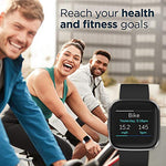 Fitbit Versa 2 Health & Fitness Smartwatch with Heart Rate, Music, Alexa Built-in, Sleep & Swim Tracking, Black/Carbon, One Size (S & L Bands Included), Technology Products, Drugstore, Fitbit
