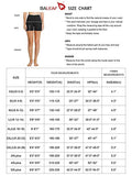 "BALEAF Women's 5"" High Waist Workout Yoga Running Compression Exercise Volleyball Shorts Side Pockets Black XS, Women - Apparel - Pants - Wide Leg, Apparel, BALEAF, Shorts, summer women cloth"