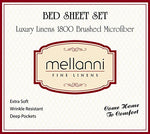 Mellanni Sheet Set Brushed Microfiber 1800 Bedding-Wrinkle Fade, Stain Resistant - Hypoallergenic - 3 Piece (Twin, Black),, Home Products, Home, Mellanni, Sheet & Pillowcase Sets - ThingsBuy