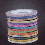 10Pcs/Set 20m Fashion Scrub Nail Striping Manicure Tape Line, Nail & Eyelash Art Equipment, 0Pcs/Set 20m Fashion Scrub Nail-Striping Manicure Tape, ashion Scrub Nail-Striping, Beauty Products