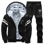 Causal Tracksuits Men Set hooded Thicken Fleece Hoodies + Sweatpant 2020 Winter Sweatshirt Sportswear, Men Hoodies, Causal Tracksuits Men Set hooded Thicken Fleece Hoodies, Causal Tracksuits