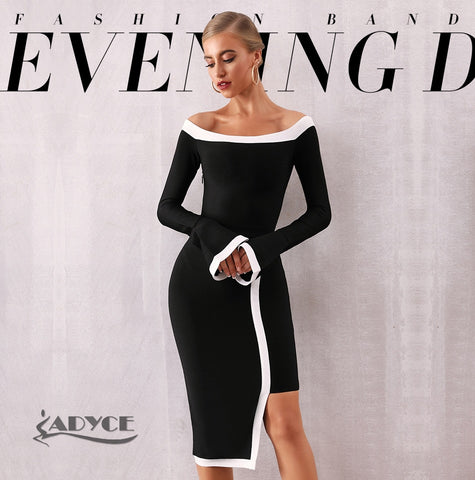 Adyce Women Long Sleeve Bandage Dress, women clothes, ADYCE 2020 New Summer Pink Bandage Dress Women Sexy Hollow Out Deep V Tank Backless Club Dress Hot Celebrity Evening Party Dress, Women c