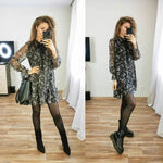 Casual Women Long Sleeve Dress, women clothes, Women clothes - ThingsBuy