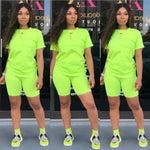Women Casual Two pieces Short Sleeve Tracsuit - ThingsBuy
