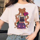 Sailor Moon 90s Anime Summer T-shirt, tshirt, summer, summer clothes, tshirt - ThingsBuy