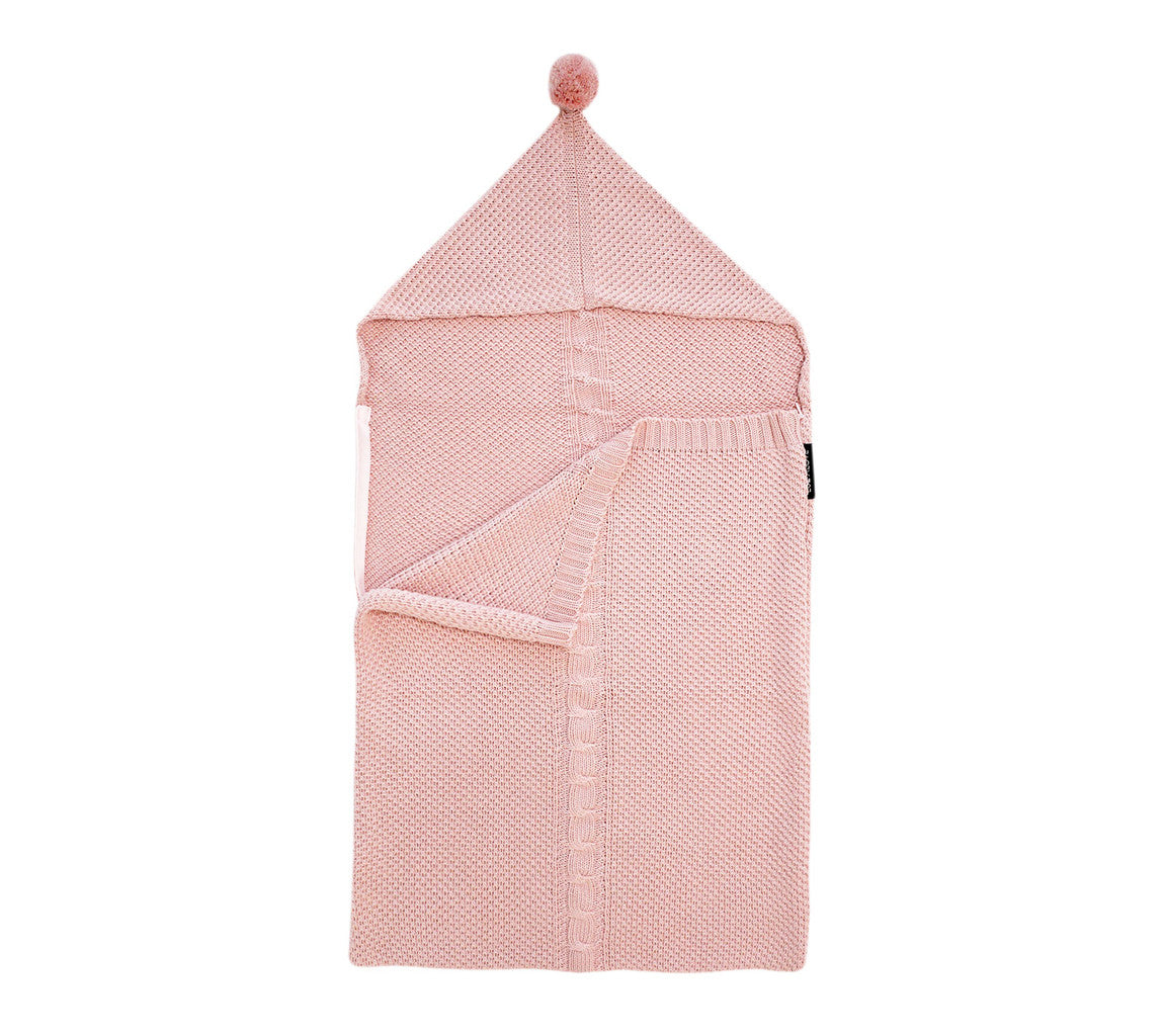 SAC DE COUCHAGE TRICOT BEBE ROSE