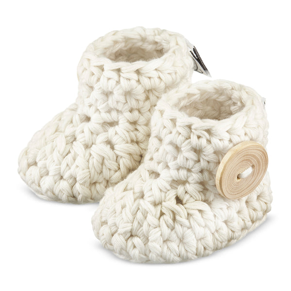 CHAUSSONS TRICOT 6-9M BEIGE