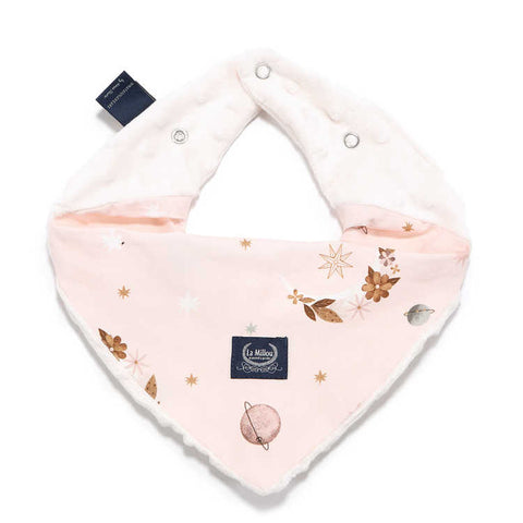 FOULARD COTON/MINKY  (FLY ME TO THE MOON ROSE)
