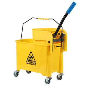 Commercial Rolling Cleaning Cart 20/24/32L For Home, Shop , Garden , Hotels etc