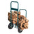 Firewood Log Rack Carrier Garden Cart-220 LB Weight Capacity Wood Rack Storage Mover with Rolling Wheel for Indoor & Outdoor Use