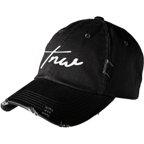 Tnw Distressed Cap - White - thirdandwalker