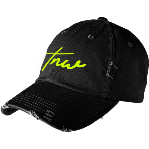 Tnw Distressed Cap - Lime - thirdandwalker