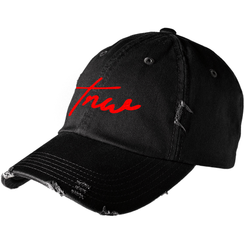 Tnw Distressed Cap - Red - thirdandwalker