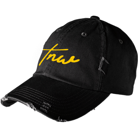 Tnw Distressed Cap - Yellow - thirdandwalker