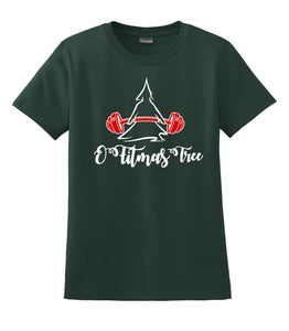 O Fitmas Tree Hanes® - Ladies Nano-T® Cotton T-Shirt