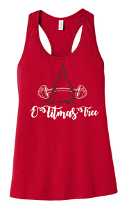 O Fitmas Tree BELLA+CANVAS ® Women's Jersey Racerback Tank