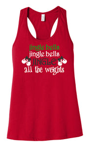 Jingle all the Weights BELLA+CANVAS ® Women's Jersey Racerback Tank