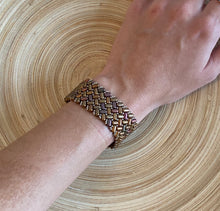 Load image into Gallery viewer, Brown Patterned Bracelet