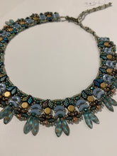Load image into Gallery viewer, Blue Leafed Necklace