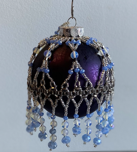 Purple Ornament with Periwinkle Beading