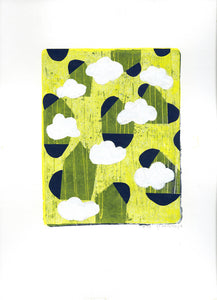 #73 Monoprint Collage by Dolores Poacelli