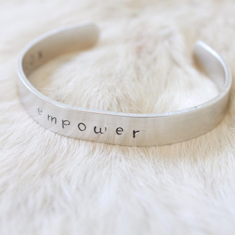 Empower Aluminum Cuff Bracelet Benefitting YWCA
