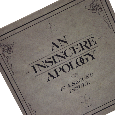 An Insincere Apology