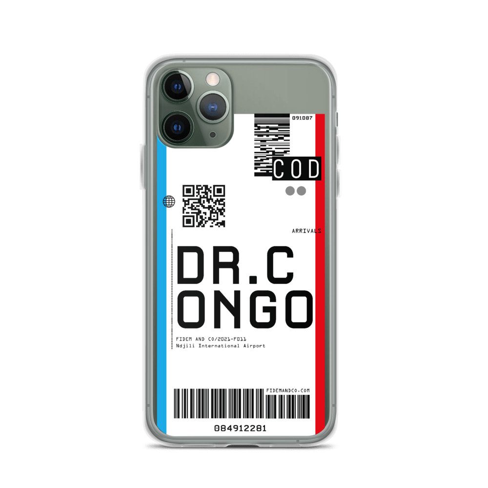 DR. Congo Flight Ticket Case