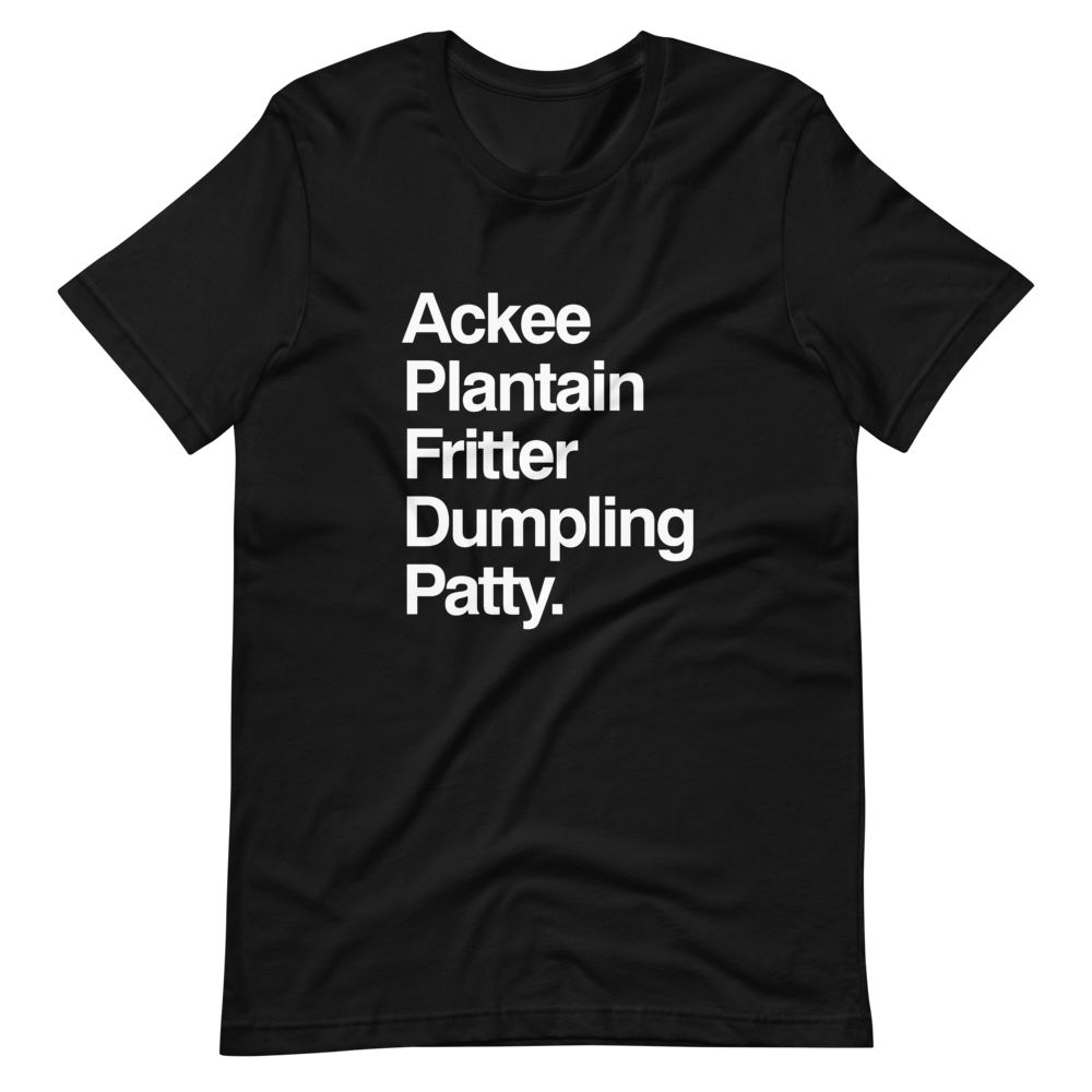 Jamaican Food Black T-Shirt