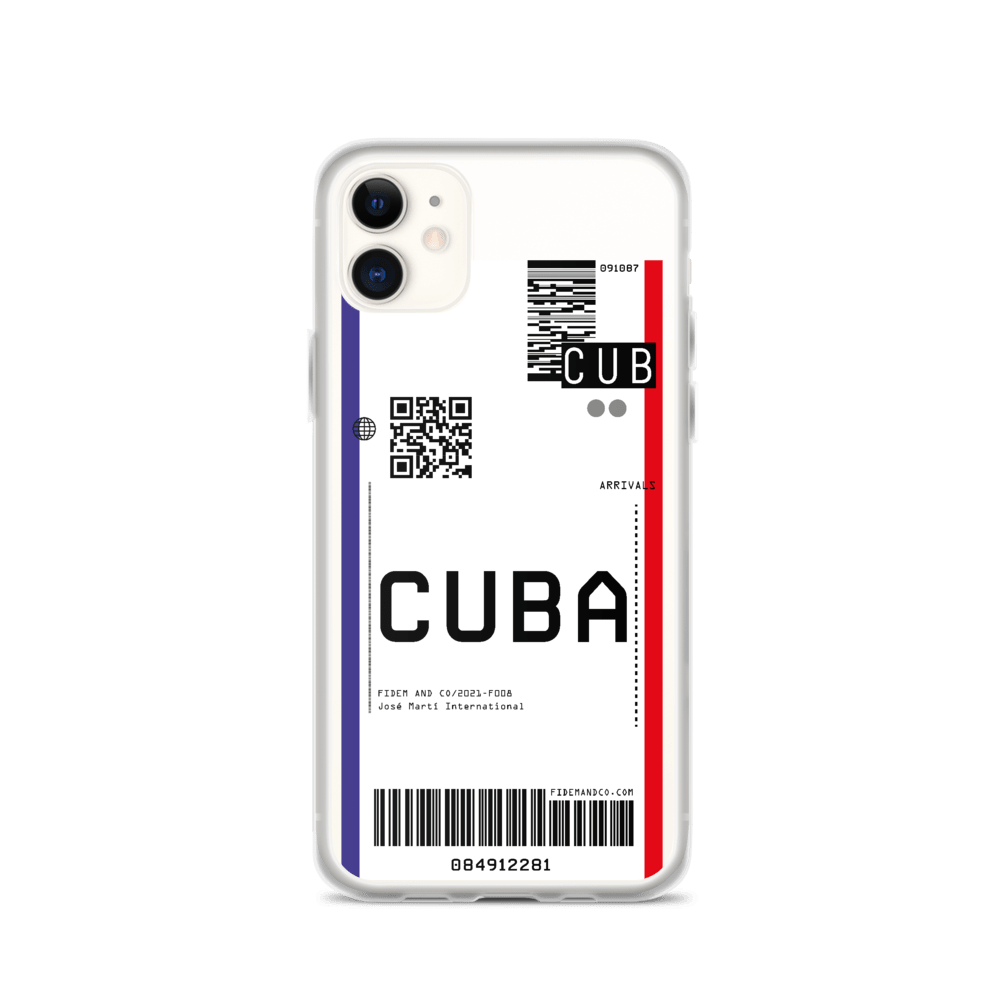 Cuba Flight Ticket Case