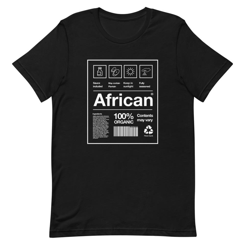 African Packaging T-shirt Black