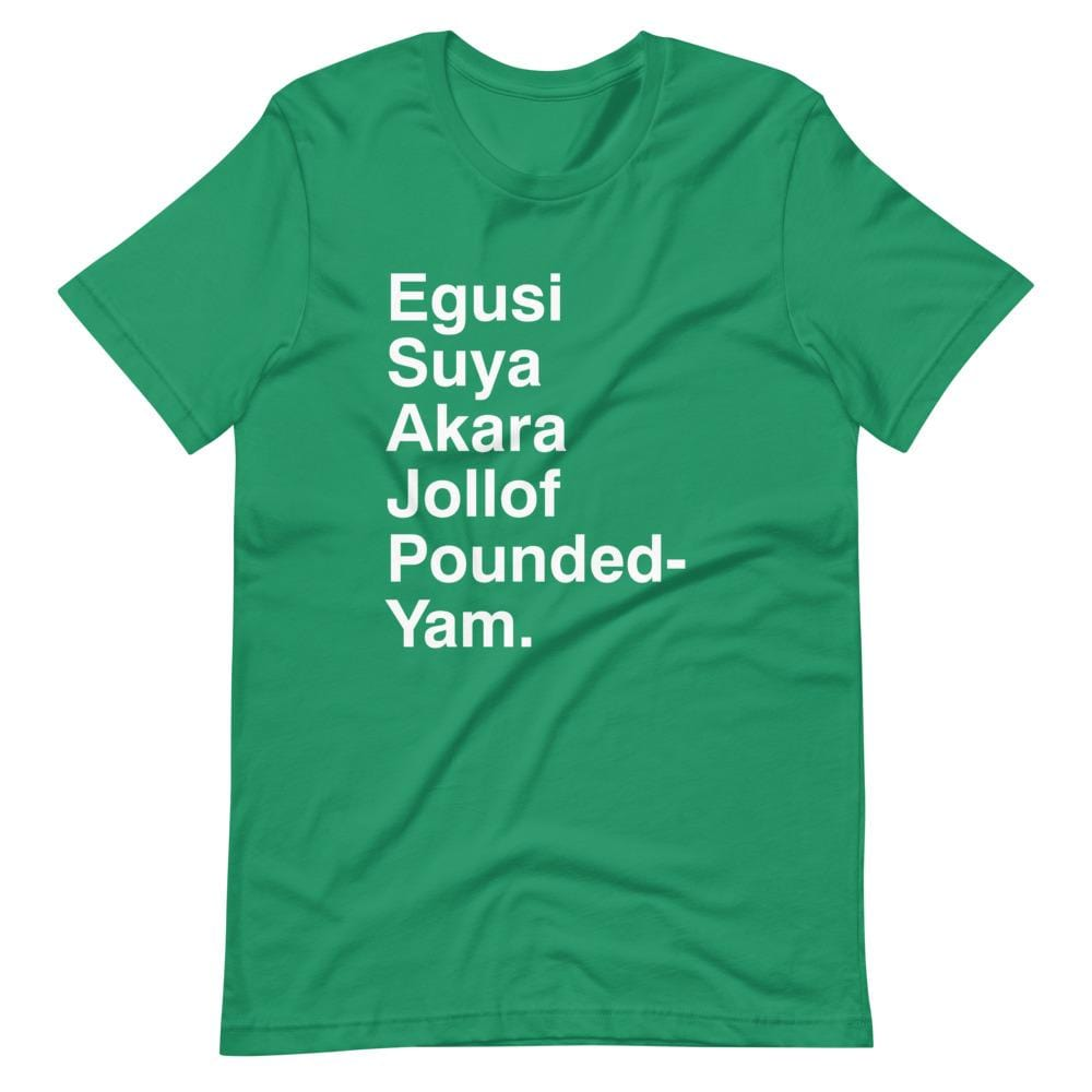 Naija Food list Unisex T-Shirt