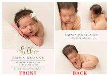 Load image into Gallery viewer, Birth Announcement - Bec Gordon Photography