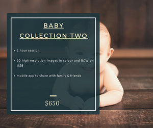 Baby Photoshoot Pricing - Bec Gordon Photography.