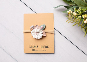 Bec Gordon Photography. Floral Headband. Super soft nylon. Mamá + Bebé.