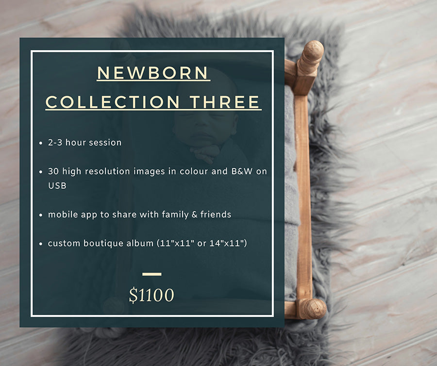Newborn Photoshoot Pricing - Bec Gordon Photography.