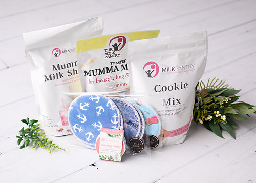 breastfeeding snacks, nursing balm, nursing pad.