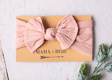 Load image into Gallery viewer, pink stretch bow headband