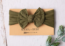 Load image into Gallery viewer, Fern stretch bow headband