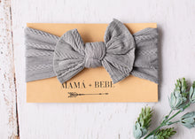 Load image into Gallery viewer, Grey stretch bow headband