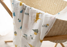 Load image into Gallery viewer, White Christmas Organic Muslin Swaddle