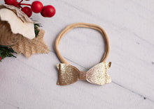 Load image into Gallery viewer, Xmas Glitter Bow Headband