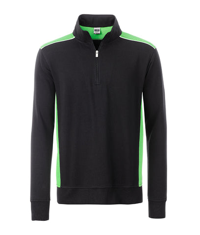 James & Nicholson JN868 Workwear Half-Zip Sweat