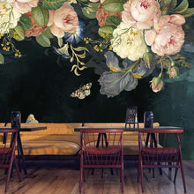 Load image into Gallery viewer, Dark Pastoral Flowers Mural Wallpaper (SqM)