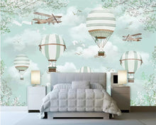 Load image into Gallery viewer, Flying Balloon Adventure Mural Wallpaper  (SqM)