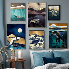 Load image into Gallery viewer, Whales Couple Canvas Print