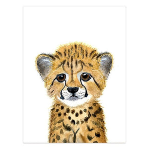 Baby Leopard Canvas Print